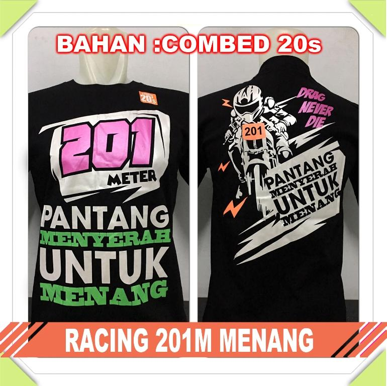 Kaos Distro Gaul RACING 201M MENANG