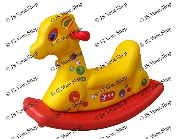 Kuda kudaan / Jungkat Jungkit / Ayunan Plastik - Rocking Horse Mainan - hmHVeU