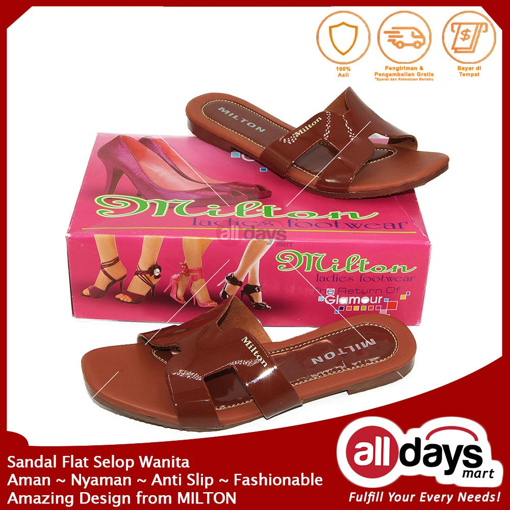 Milton Kanvas Sandal Sepatu Selop Casual Pria 02 Coklat Size 39 43 Homyped Confero 01 Tan Cokelat Muda 42 Flat Wanita Derby