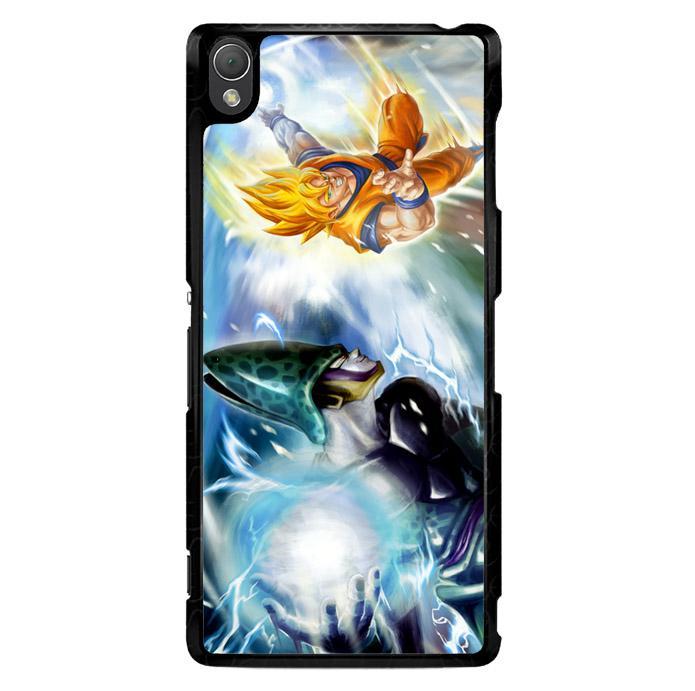 Dragonball Z Cell Vs Goku Z1600 Sony Xperia Z3 Custom Hard Case
