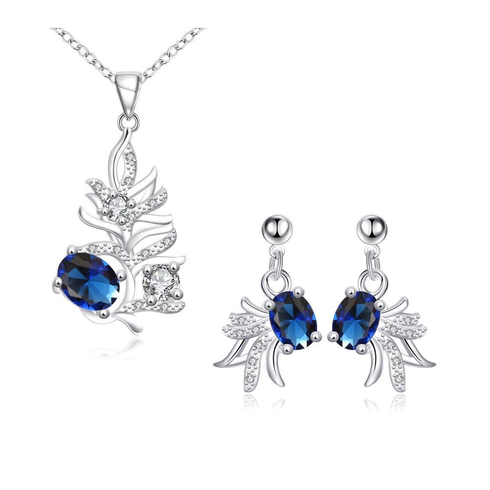 Fashion perhiasan perak perdagangan luar negeri fashion kreatif wanita ikan mas kecil kalung anting dua set SPS147-A SPS147