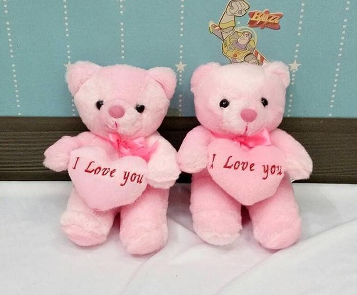 Boneka Teddy Bear Kecil Lempar Wedding - D3Pm5Z