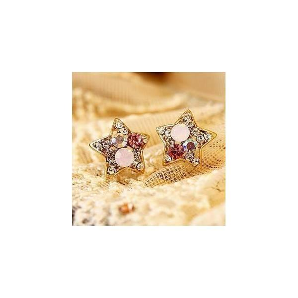 Anting Bintang Berlian Kristal Crystal Diamond Star Earrings Jan049