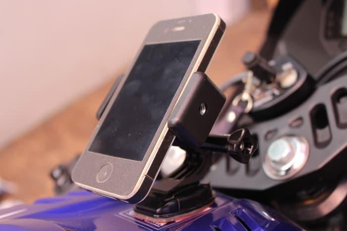 Ready!!! Mounting Set Smartphone U002F Gopro Di TangkiU002Ftanki Motor Motovlog U002F Vlog - ready stock