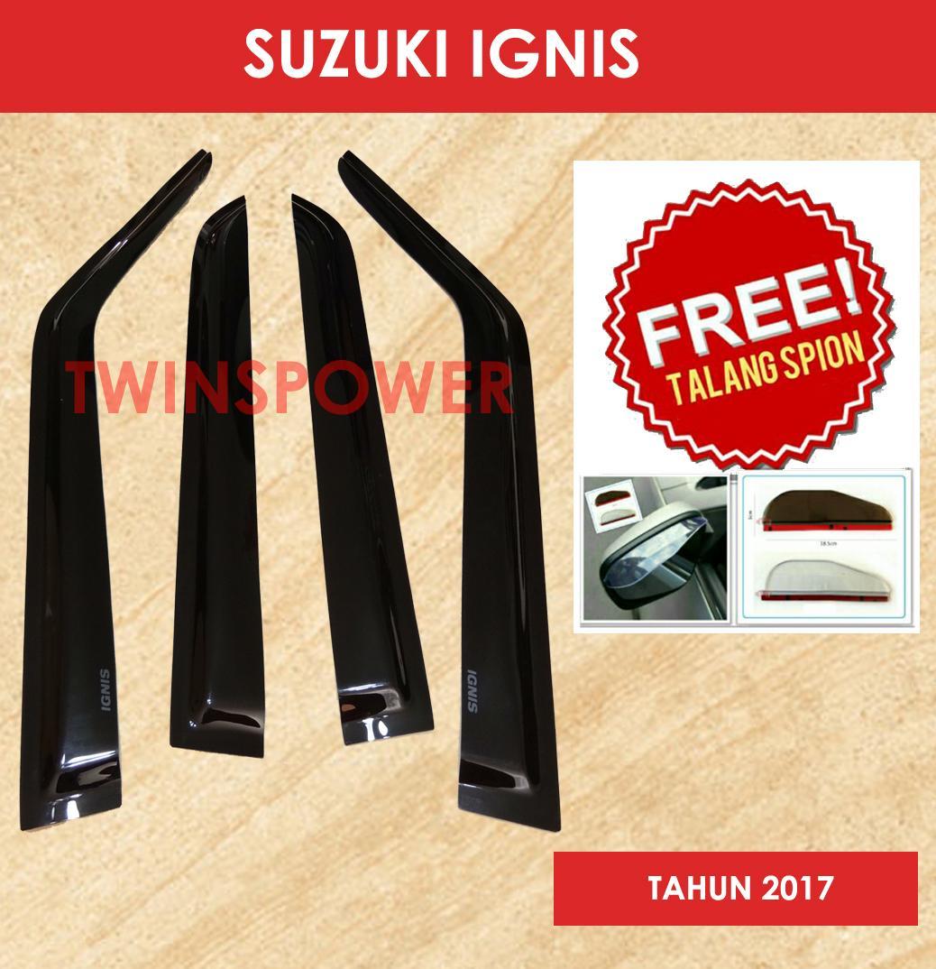 Talang Air Mobil Suzuki Ignis + FREE Talang Spion
