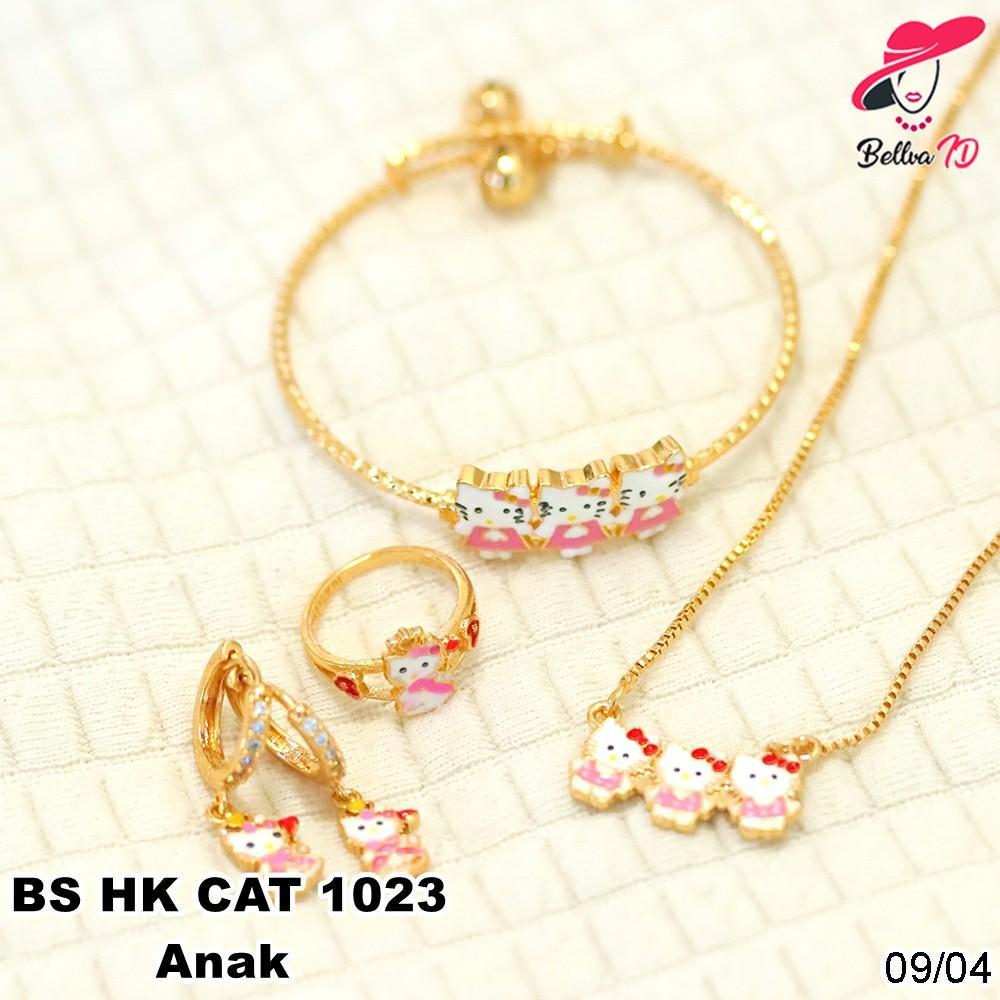 Perhiasan Set Emas Hello Kitty Cat Kekinian Terbatas S 1023 Anak
