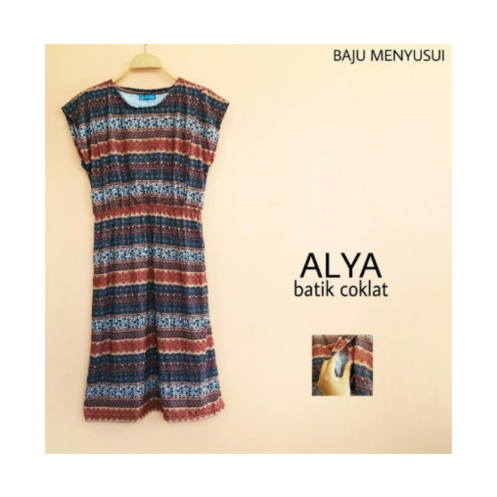Baju Hamil Dress Batik Hamil Dan Menyusui Alya