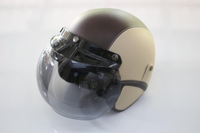 Helm Bogo - Helm Kulit Kaca Bogo Original (Bukan KW) - Krem Coklat