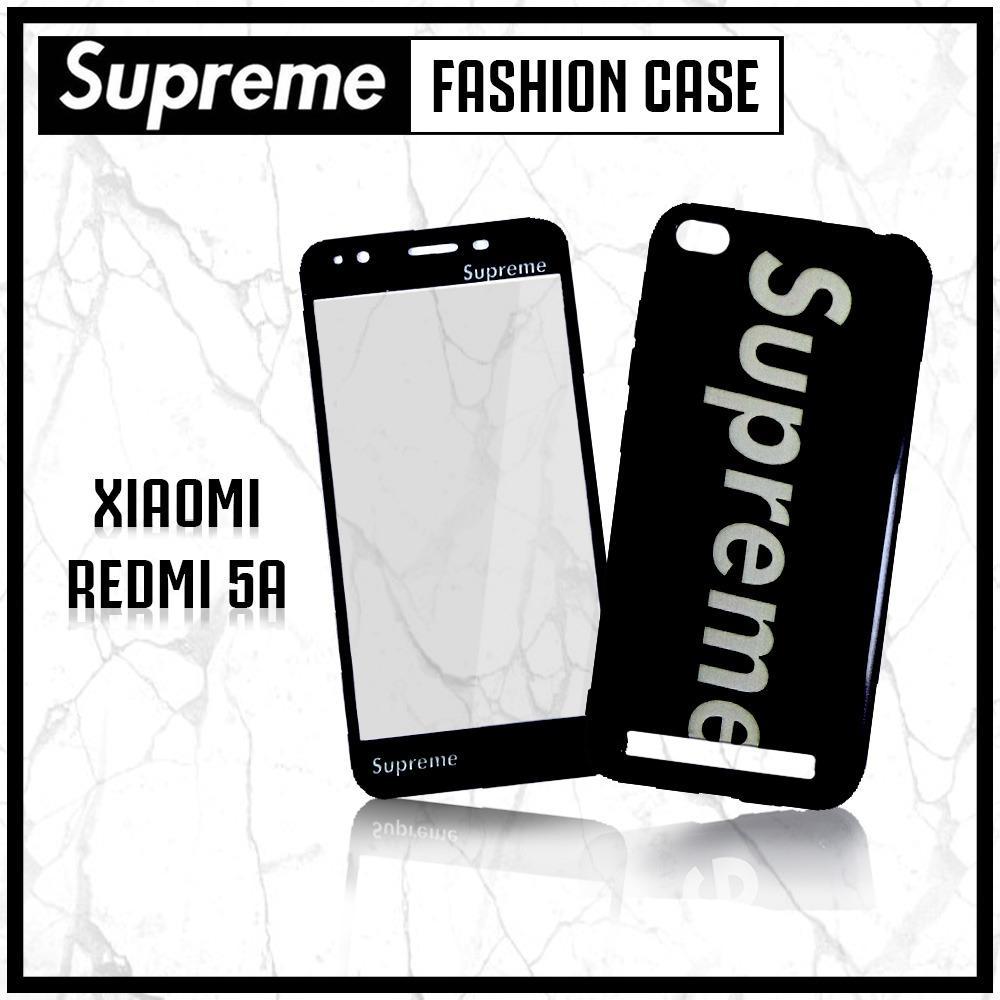 Marintri Case Xiaomi Redmi 5A Plus Tempered Glass Black Style
