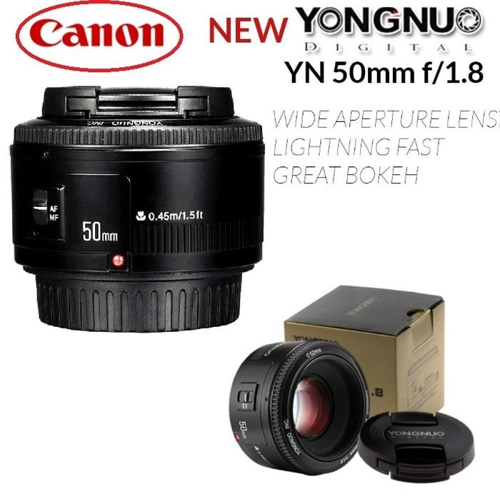 LENSA YONGNUO 50MM F1.8 FIX LENS FOR CANON AF-S Auto Fokus