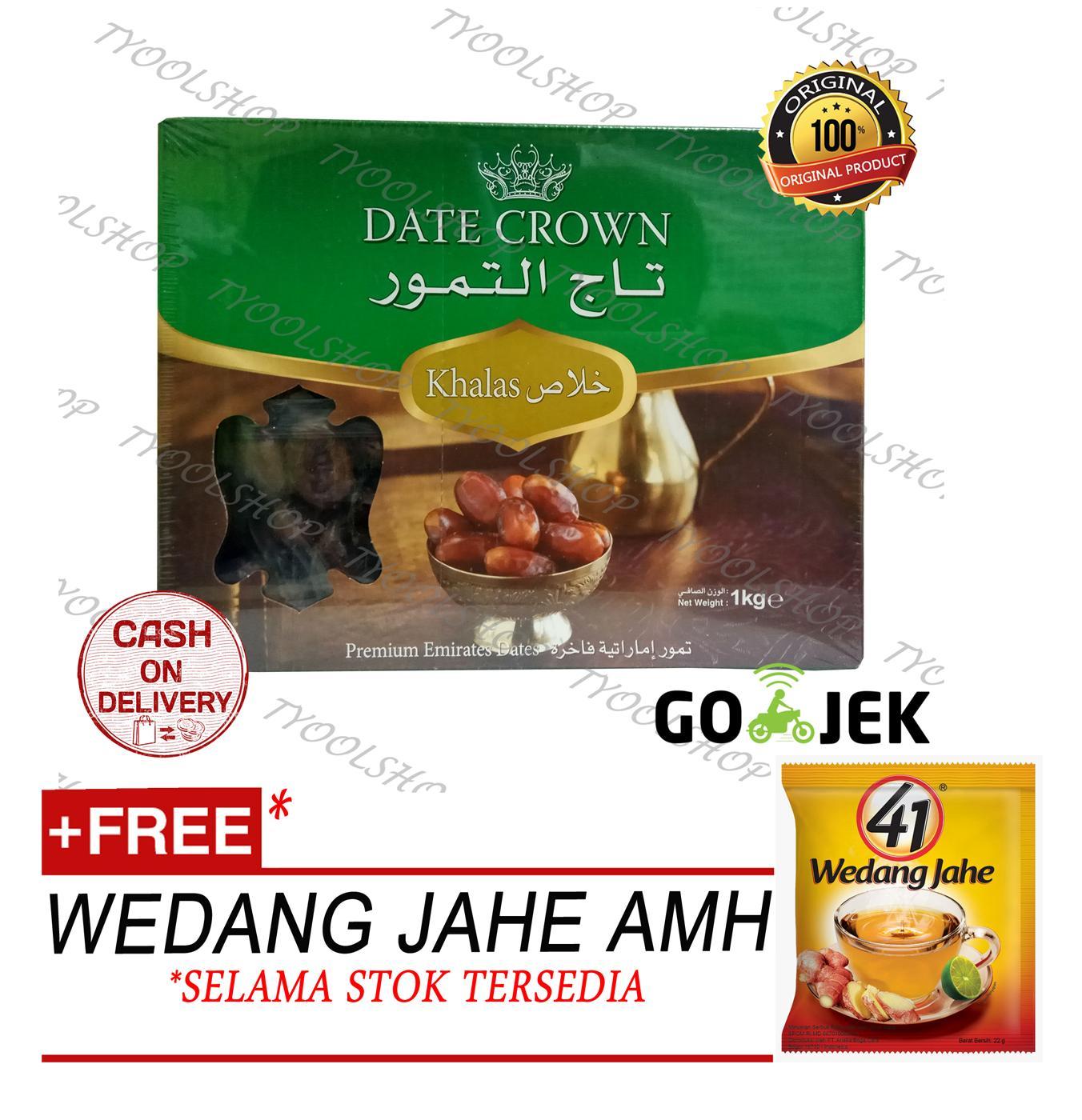 Kurma Date Crown Kurma Khalas -1 kg + Wedang Jahe*