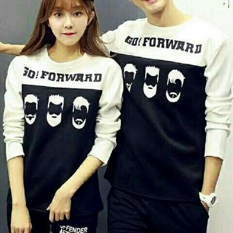 Tj-fashion kaos couple forward hitam combi putih-kaos couple-kaos couple lengan panjang-kaos kembaran-kaos pasangan-harga sepasang-couple fashion