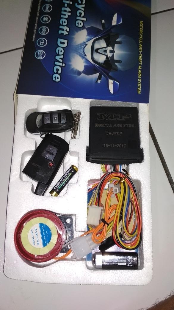 alarm motor vixion & R15 2 way | ( gembok alarm motor anti maling koper sepeda pagar cakram kinbar kode tas mobil clock rumah sensor gerak pintu digital remote lock bht ) |