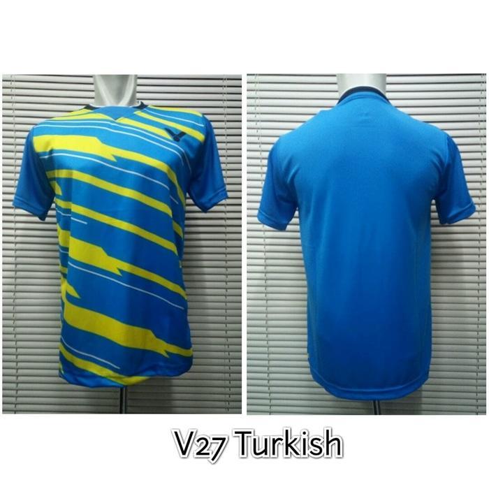 HARGA SPESIAL!!! Baju Badminton / Kaos Bulutangkis Victor V27 Turkish  - a70r9i
