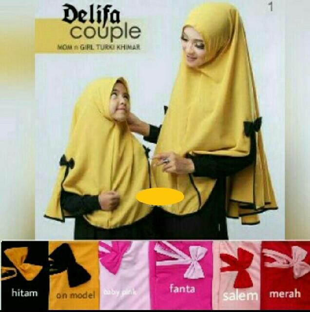 Kerudung Instant Mom & Kids Delifa Couple