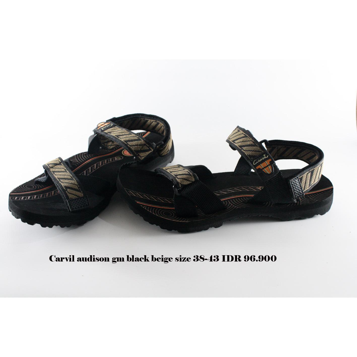carvil audison gm sepatu sandal gunung pria hitam beige