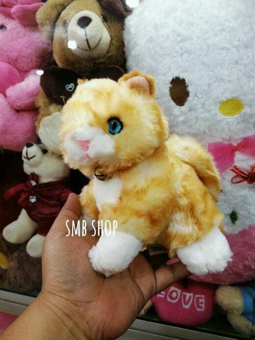 Boneka Anak kucing Belang Lucu Uk Kecil SNI
