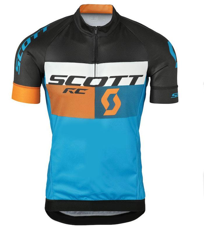 ORIGINAL!!! Jersey sepeda SCOTT Orange XC LENGAN PENDEK dengan kantung belakang - PnumgE