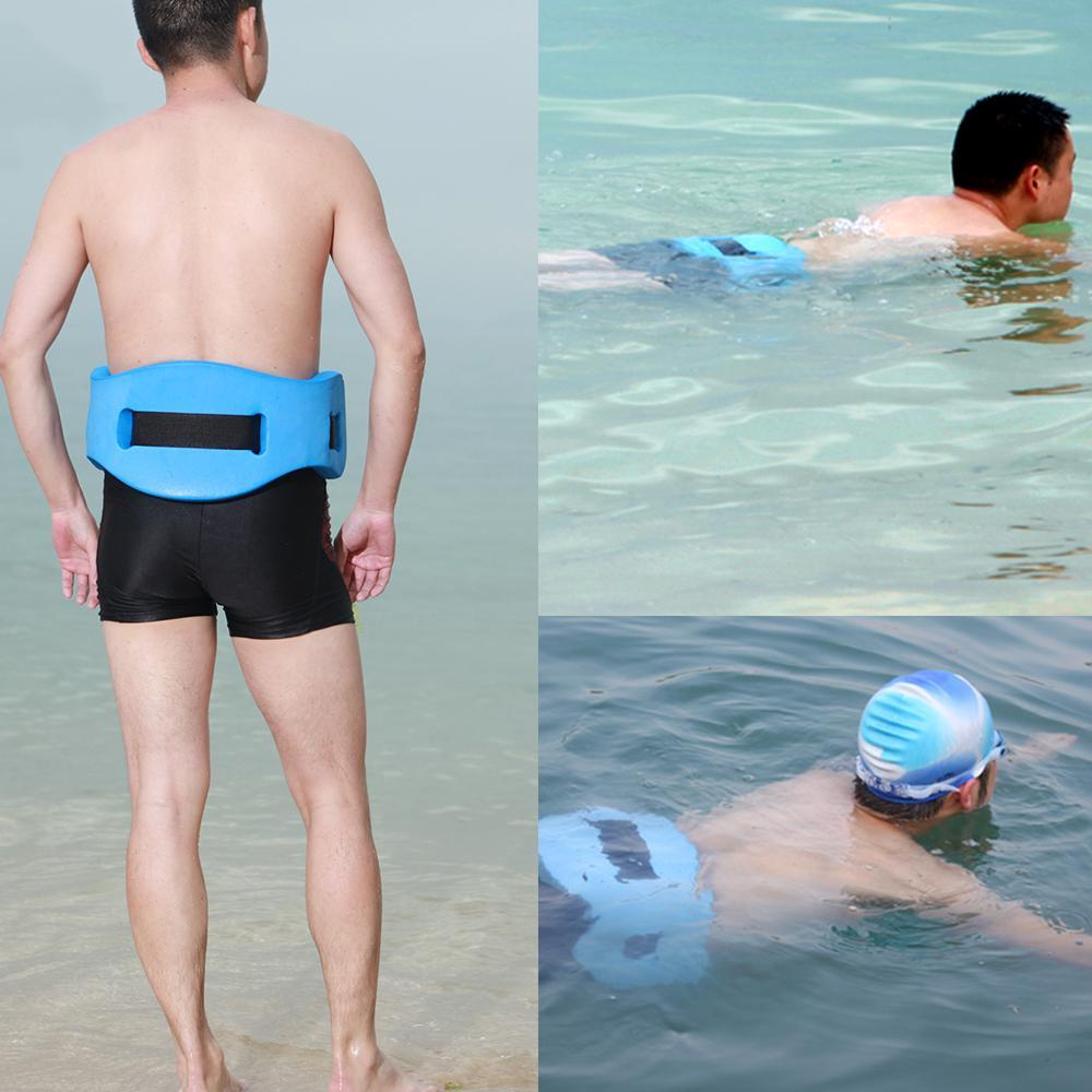 Drift Berenang Latihan Pelatihan Peralatan Flotasi Air Belt Pinggang Kembali Terapung Foam Blue-Intl By Elek.