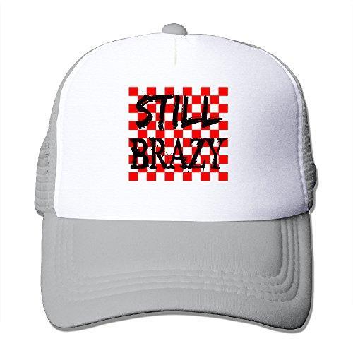 Baseball Hats Still Brazy YG 400 Flat Mesh Cap Black