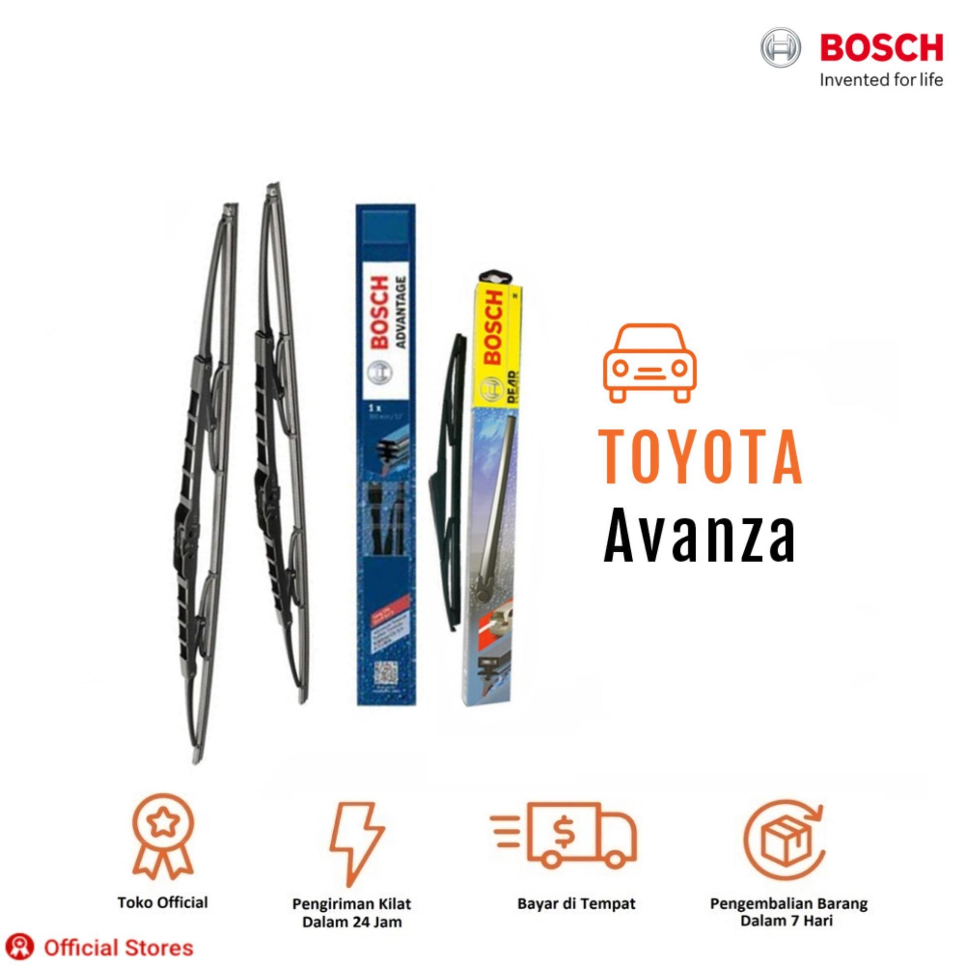 Bosch Wiper Depan & Belakang Kaca Mobil Toyota New Avanza Advantage 21