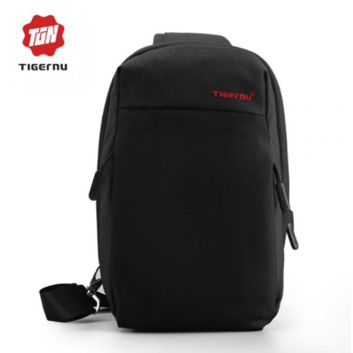 Best Seller!!! Original TIGERNU T-S8038 - 2 in 1 - Anti Theft Chest Pack - Black (Tas Keren Terbaru Branded