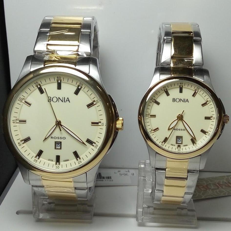 Bonia Rosso Couple Edition D34h1000b10097 2315mlslvpp Date Jam B10097 1125 Tangan Pria Gold Bnb10096 Silver Stainless Steel