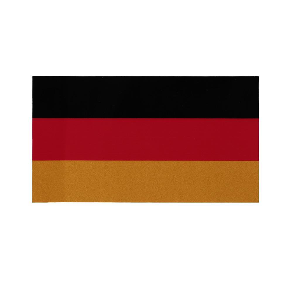 Bendera Jerman PVC Stiker Kendaraan Mobil Tubuh Stiker Jendela Dekorasi 6.5X11.5 Cm