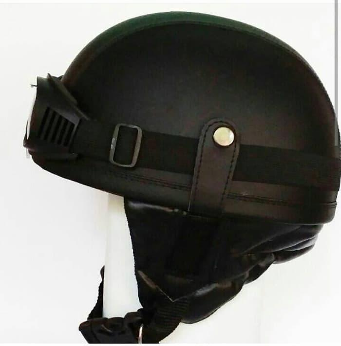 Helm Chip Chips Clup Hitam Retro Klasik Vespa || helm kyt / helm bogo / helm full face / helm ink /