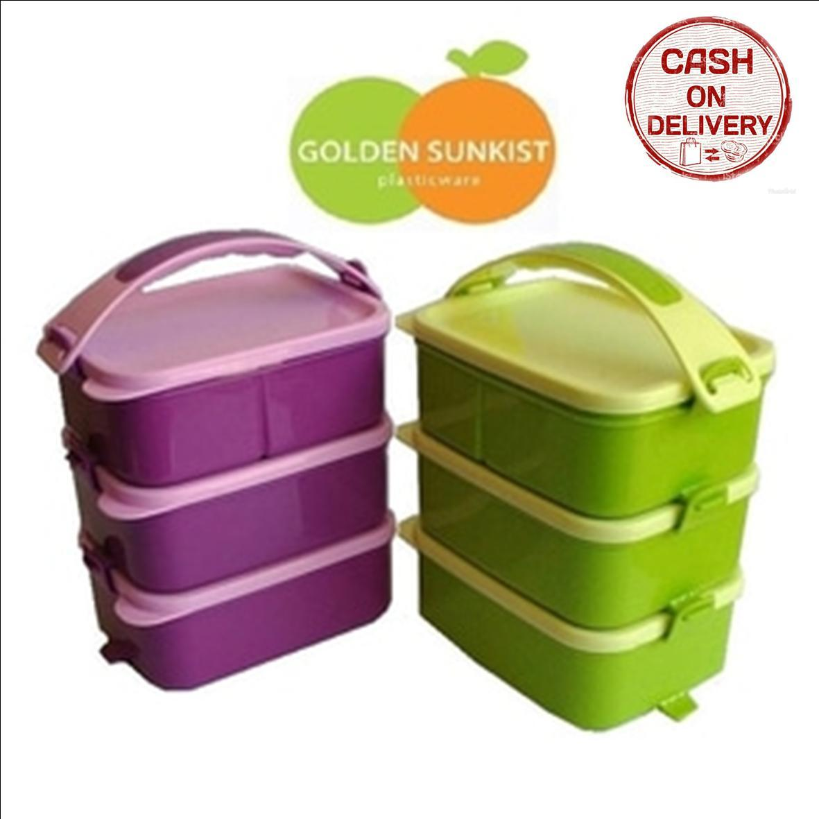 Daftar Harga Tempat Makan Susun Murah Terbaru Desember 2018 Dodawa Rantang Lunch Box 3 Kado Unik Piknik Golden Sunkist Penyimpanan Makanan Polos Plastik