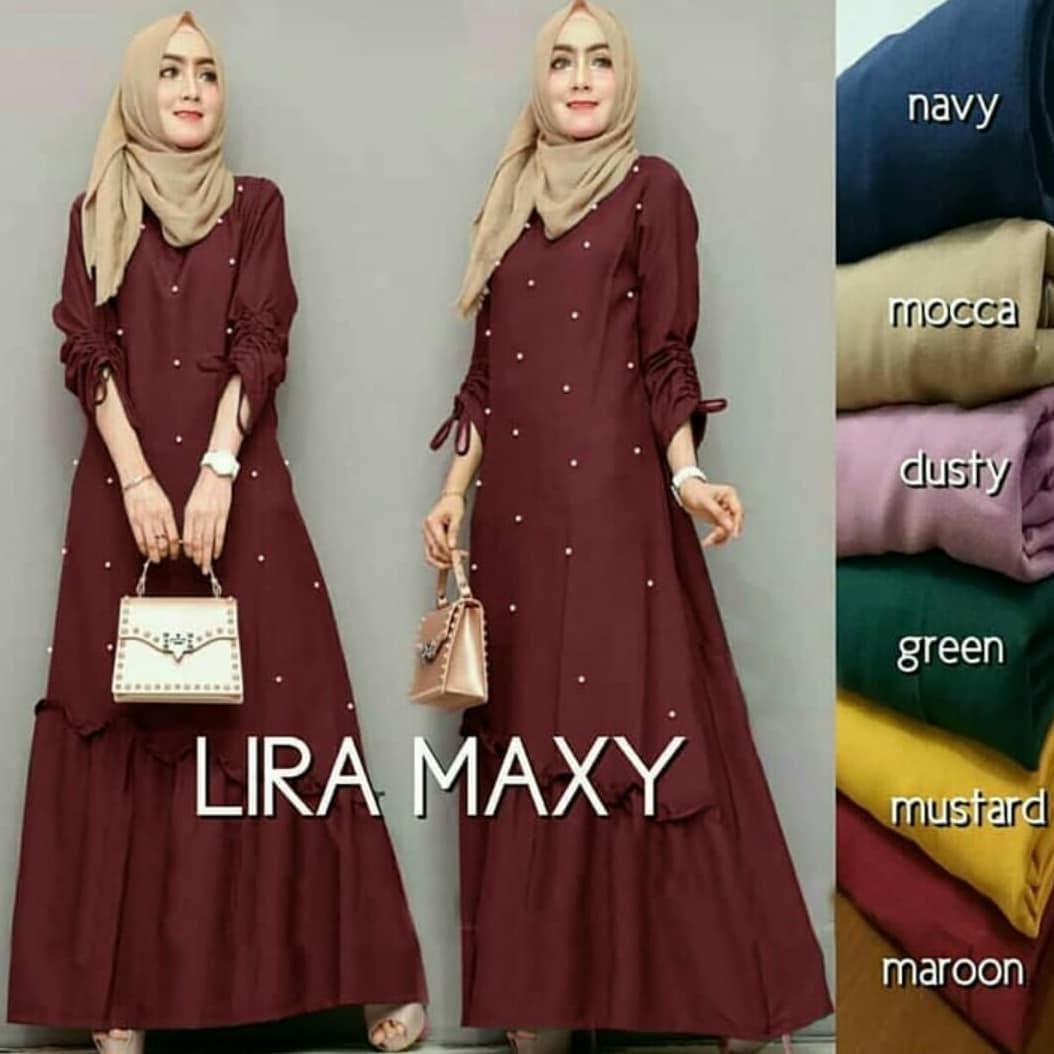 Lira Maxi // Baju Gamis // Dress Wanita