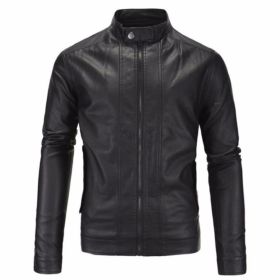 Jaket Jas - Leather Jacket Black Stylist Trend Fashion Biker Terbaik - Hitam