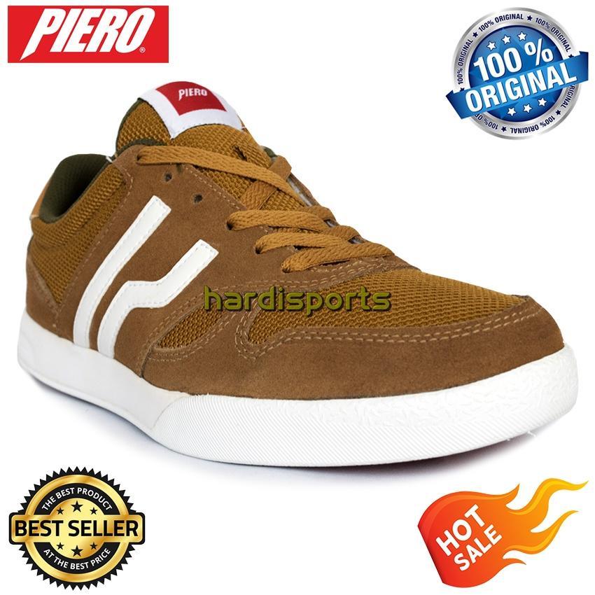 Sepatu Sneaker Pria Piero Falcon P10539 - Brown White