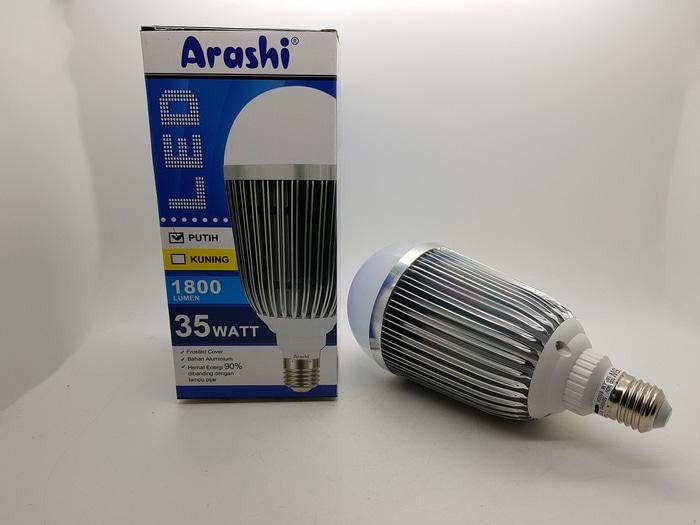 Lampu led JUMBO 35 watt casing alumunium 1800 lumen Merk ARASHI