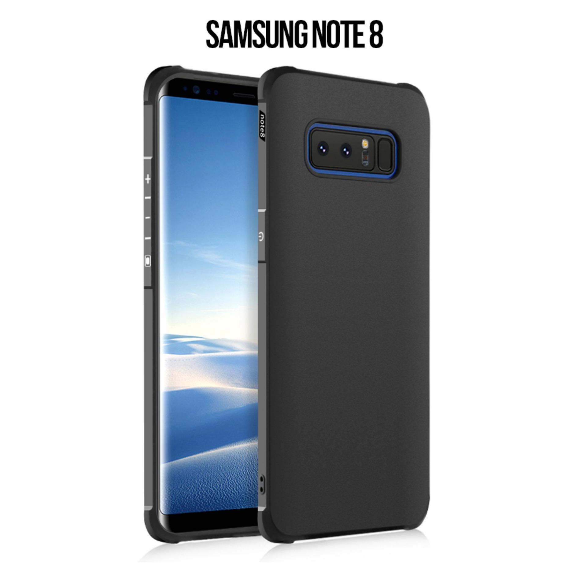 Case Samsung Note 8 COCOSE Drop resistance anti Shock Silicone Case Cover - Hitam