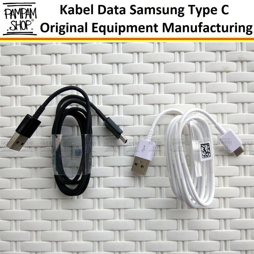Kabel Data Charger Samsung Type C USB Fast Charging Original OEM A3 A5 A7 2017 C7 C9 Pro S8 Plus S9 Note 8 9 EDGE Tipe C Cable