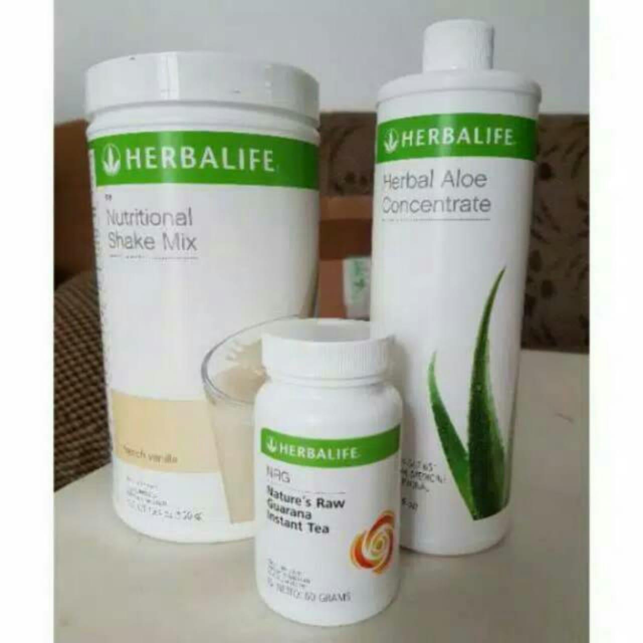 herbalife_#paket diet hemat (shake, nrg, aloe)