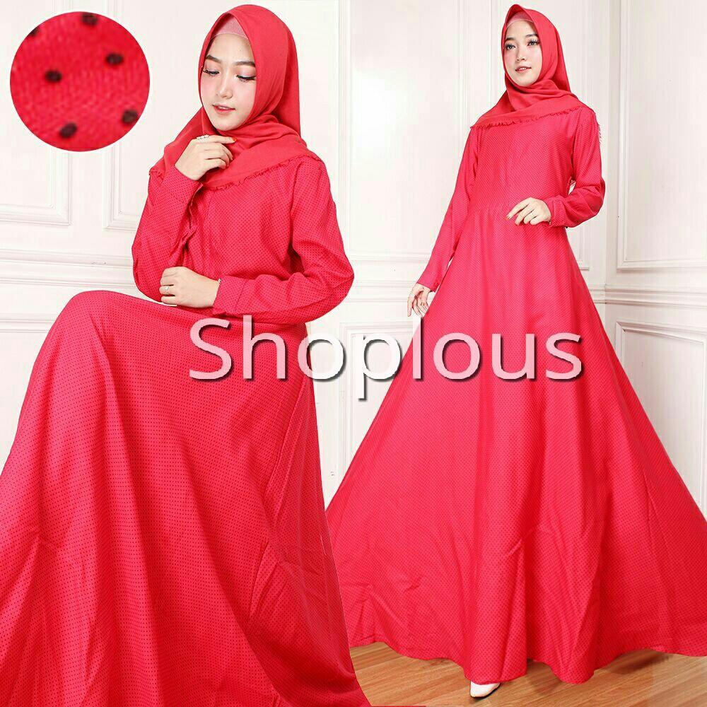 Shoplous Baju Gamis Maxi Dress Muslim Wanita Maxi Nabila (Tidak Dapat Jilbab ) / Dress Muslim / Gamis Wanita / Baju Muslim / Hijab Muslim / Fashion Muslim / Syar'i Muslim / Maxi Dress Lengan Panjang / Gamis Modern