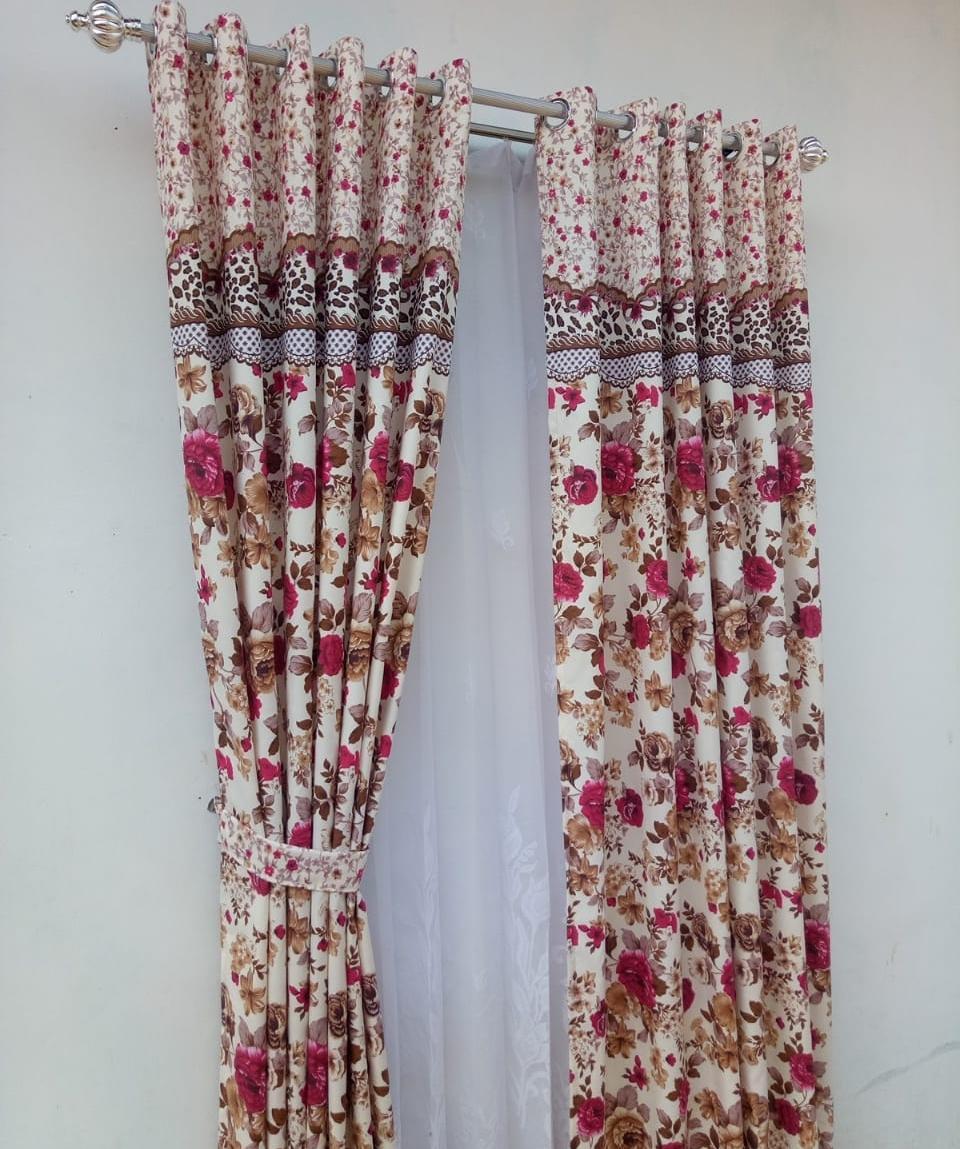 Vitrase gorden poni polos putih motif bunga ... Source · Gorden shabby chic  katun warna coklat tirai jendela pintu minimalis dekorasi rumah mewah d9bf1c33c0