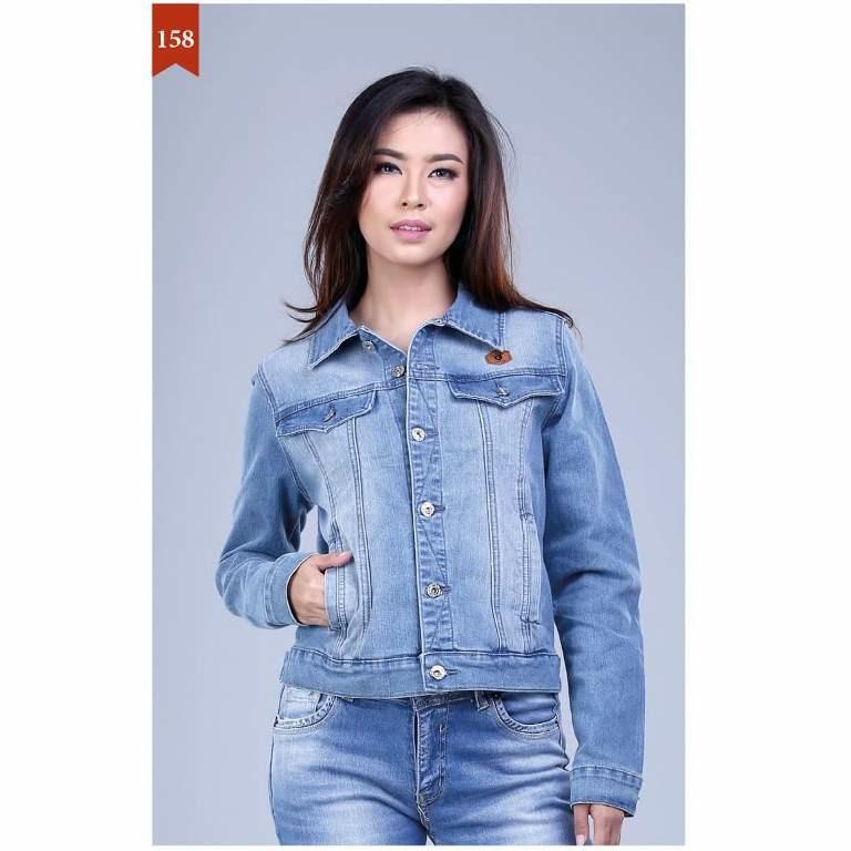 Garsel Fashion Jaket Levis Wanita Biru Muda - FDH 1269