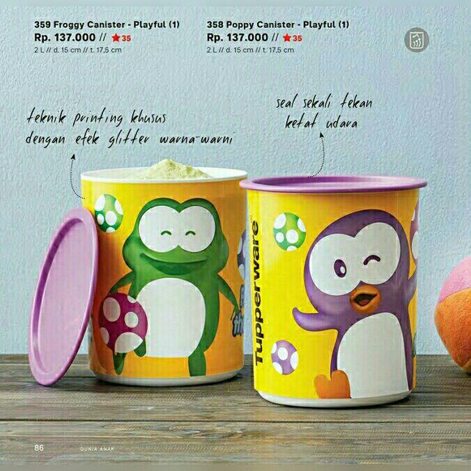 Wadah Cemilan Playfull Poppy Canister by Tupperware