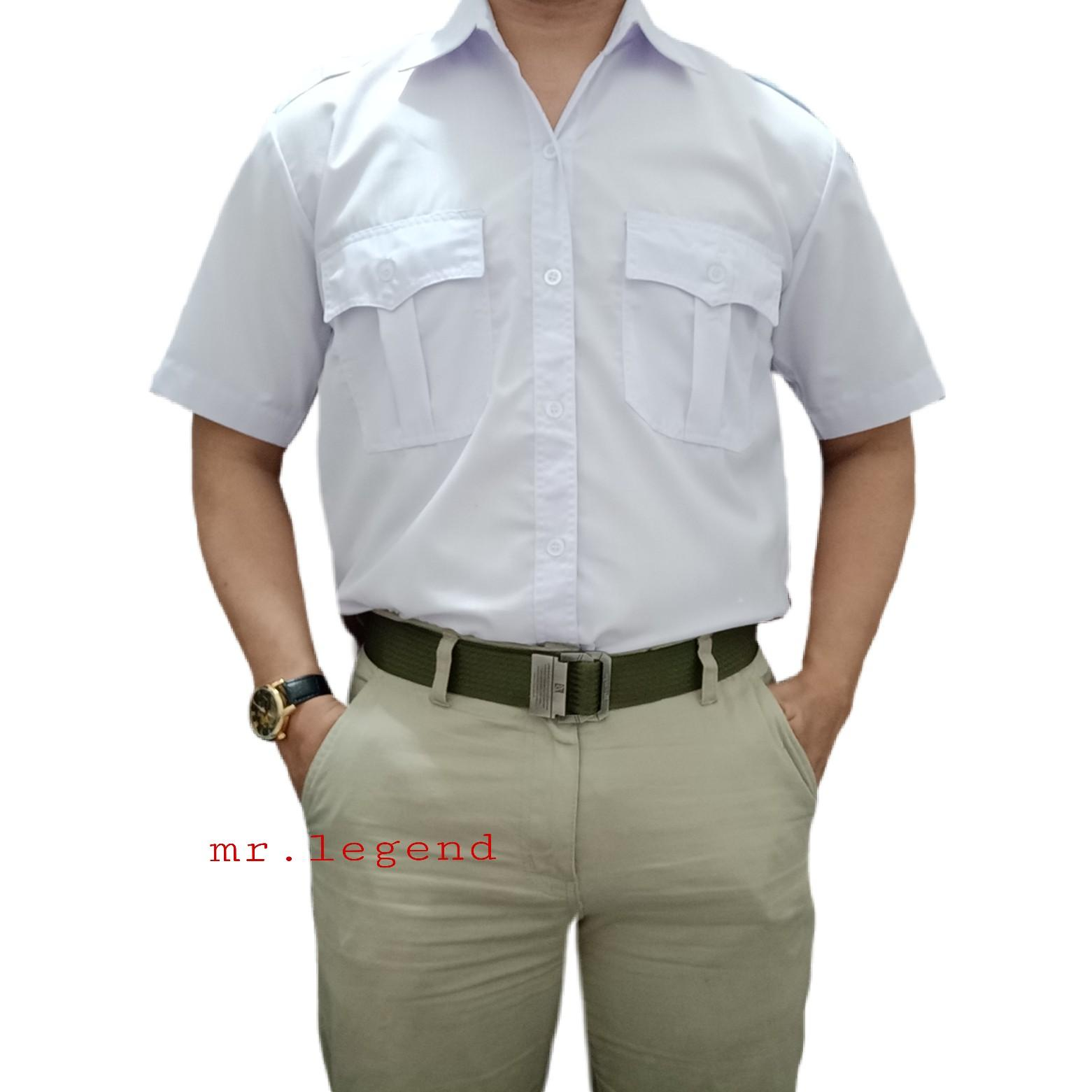 Seragam Kemeja Baju Kerja Kombinasi Batik Formal Pns Putih Pdh