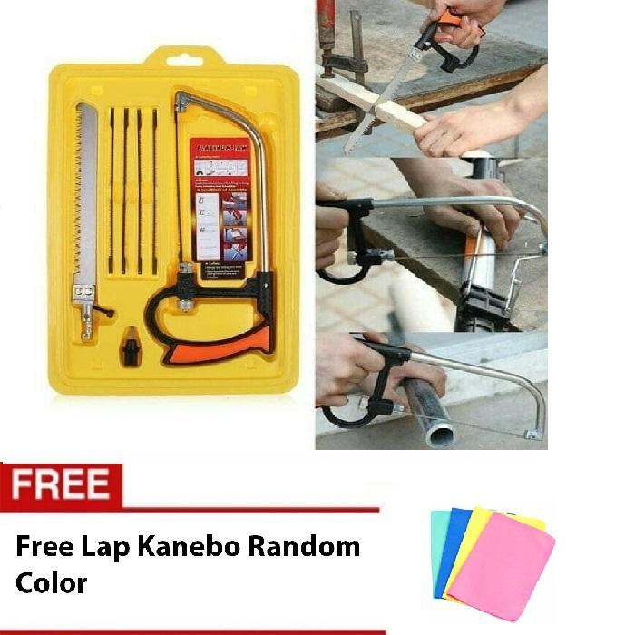 Angel Gergaji Mini Serbaguna Mini Magic Saw Gergaji Triplek Besi Pipa Free Lap Plas Chamois - 1 Pcs