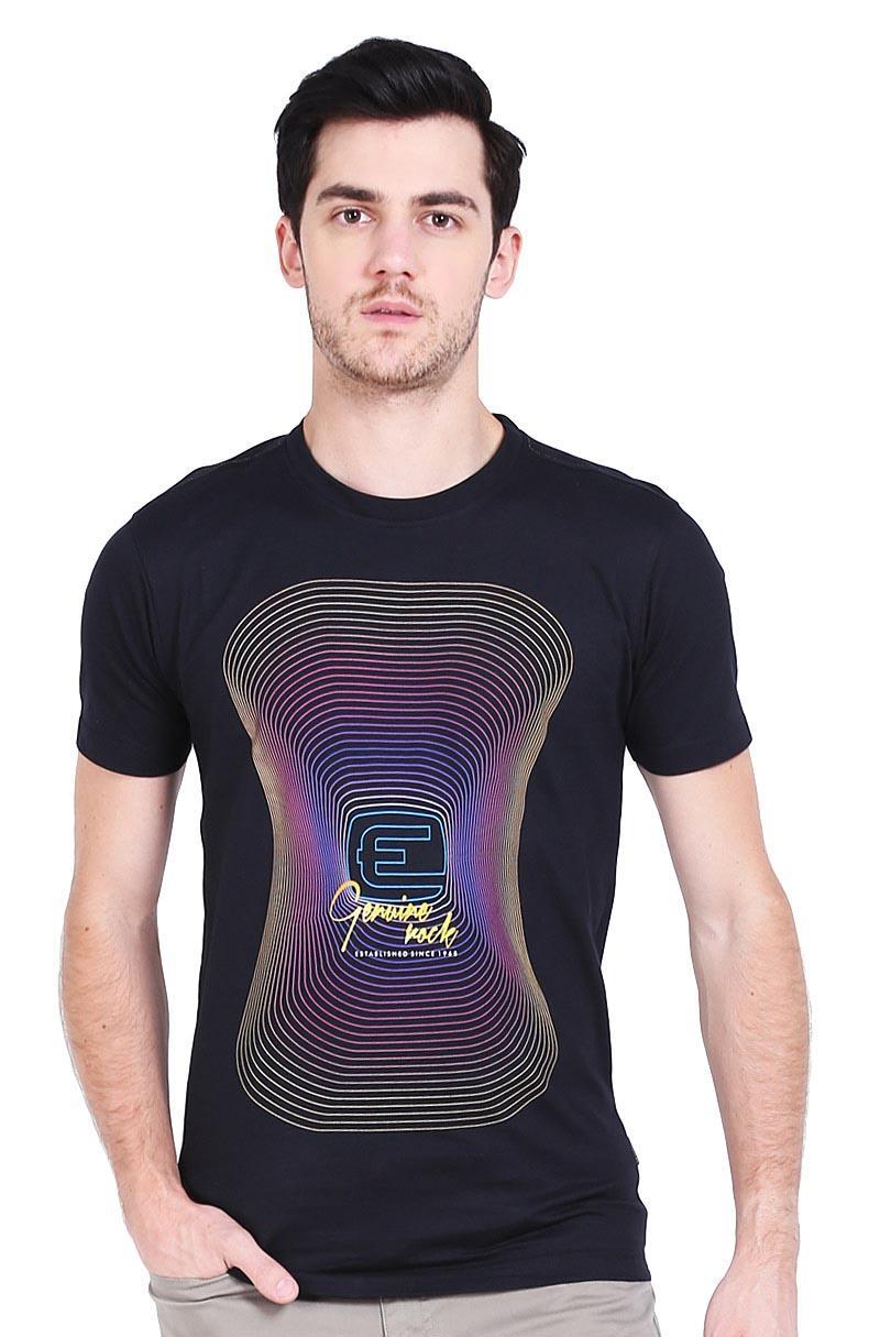Emba Jeans T-Shirt Kaos Pria Irving Black