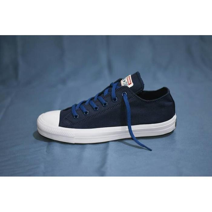 Promo Termurah Sepatu Converse Chuck Taylor II Komponen Ori / Biru Navy Gratis Ongkir