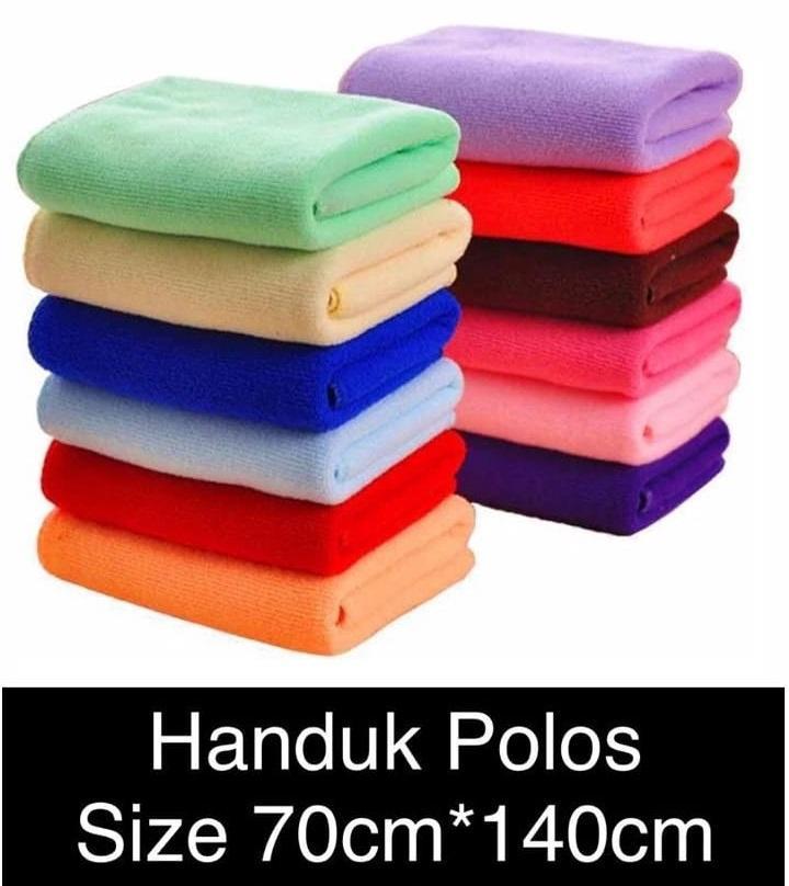 Mesh Handuk Polos / Handuk Mandi Murah / Handuk Dewasa / Handuk Souvenir Ukuran 70 x