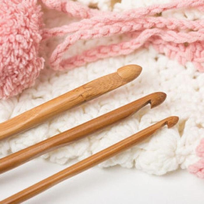 Jarum RaJut/Hakpen/Crochet Hooks Bahan Bambu (12 size0