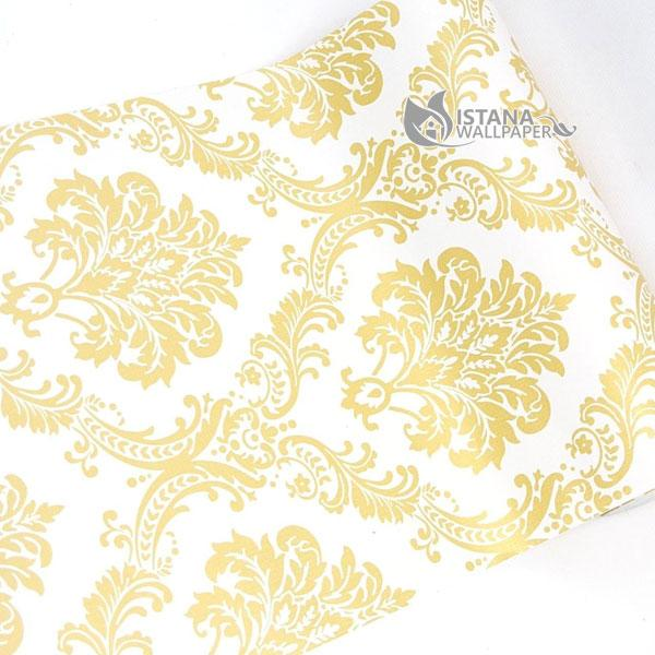 Wallpaper Sticker Premium 10 Meter - Batik Emas