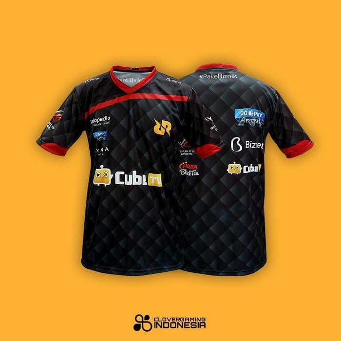 Jersey Official Team RRQ - Baju Jersey Gaming - Hitam