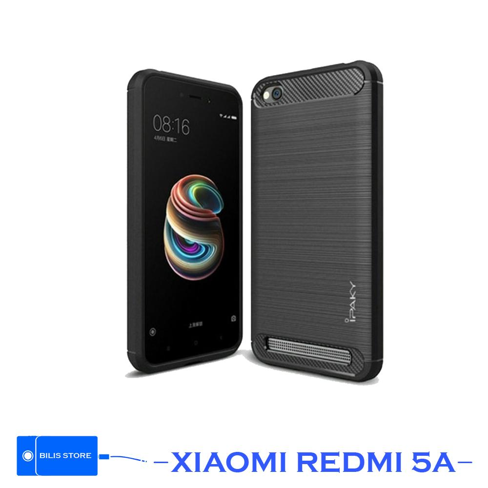 Case Ipaky Silikon Carbon Xiaomi Redmi 5a Cover Casing Shockproof Black Color Brush